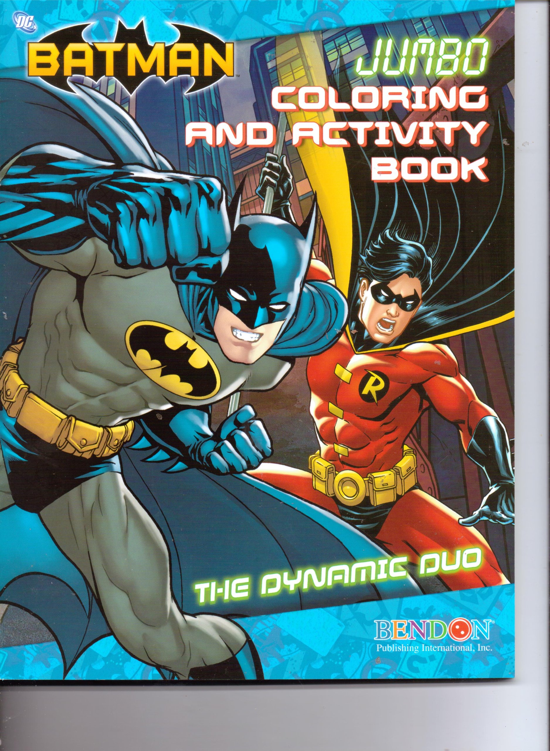 Batman Jumbo Coloring Activity Book The Dynamic Duo 96pgs DC Comics Amazon Books