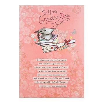 Amazon on your graduation papyrus greeting card by hallmark on your graduation papyrus greeting card by hallmark traditional glitter card m4hsunfo