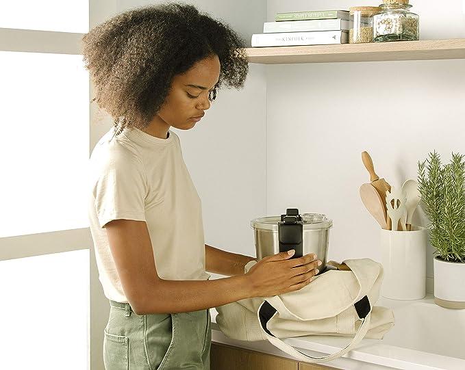 IKOHS CHEFBOT Compact - Robot de Cocina Multifunción, Compacto, Cocina al Vapor, 23 Funciones, 10 Velocidades con Turbo, Bol de Acero Inoxidable 2, 3 L, Libre BPA (con Recetario - Blanco): Amazon.es