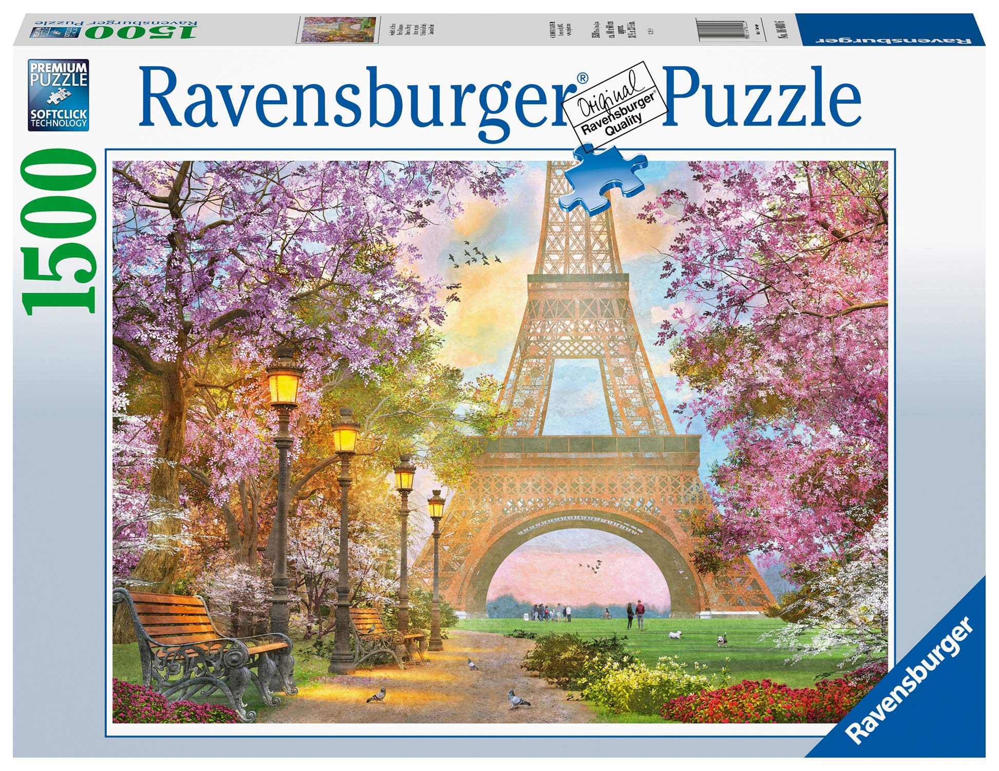 Ravensburger 16000 Paris Romance 1500 Piece Jigsaw Puzzle for Adults & for Kids Age 12 and Up