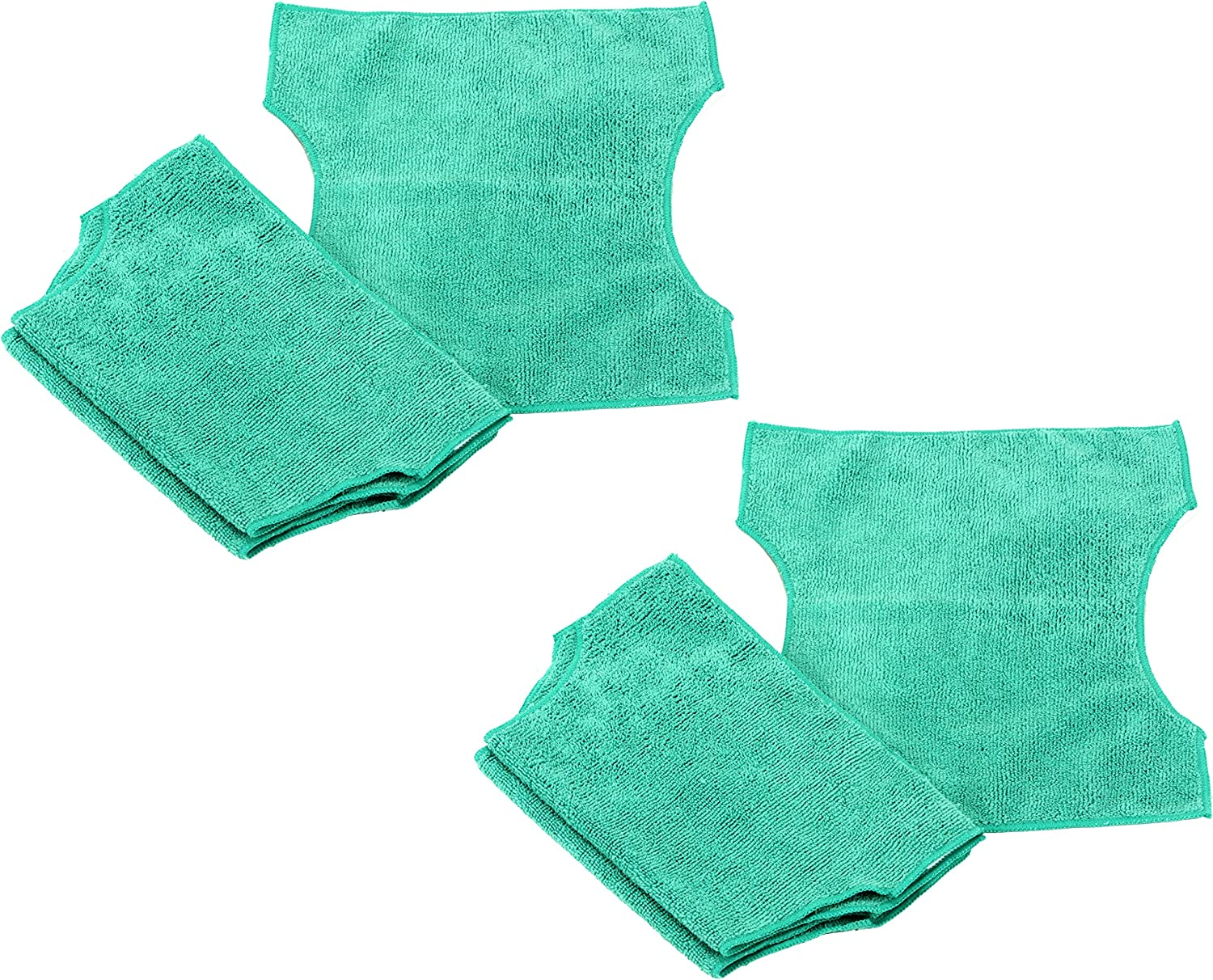 Real Clean Microfiber Refills Compatible with Swiffer and Clorox ReadyMop 3-Pack