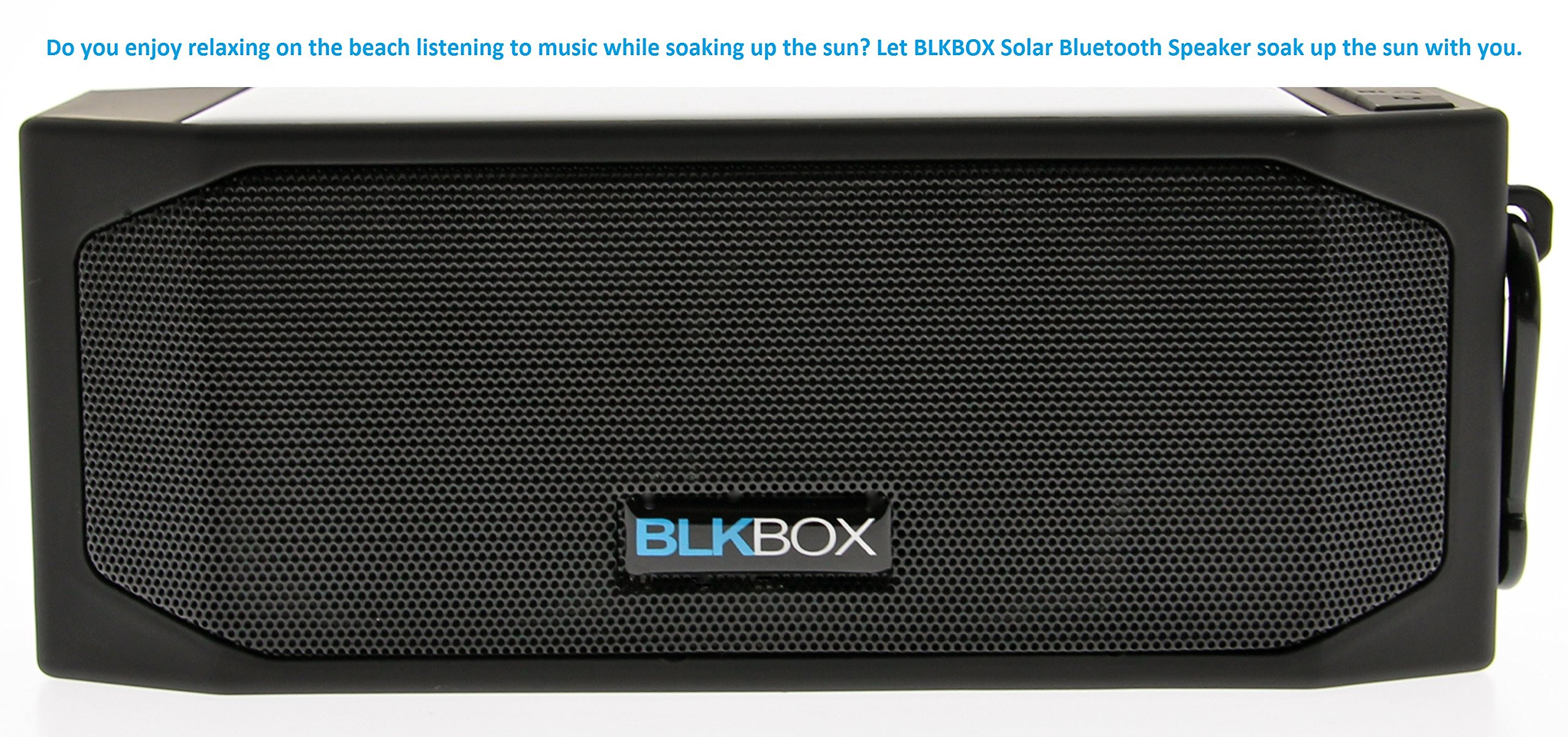 Wireless Solar Bluetooth Speaker for iPhones, iPads, Androids, Samsung and all Phones, Tablets, Computers (Black)