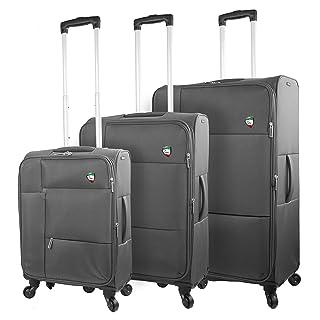 Mia Toro Italy Tordino Softside Spinner Luggage 3pc Set,Green