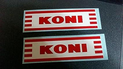Vintage Motorcycle Koni Rear Shock Decals 1 Pair Used On