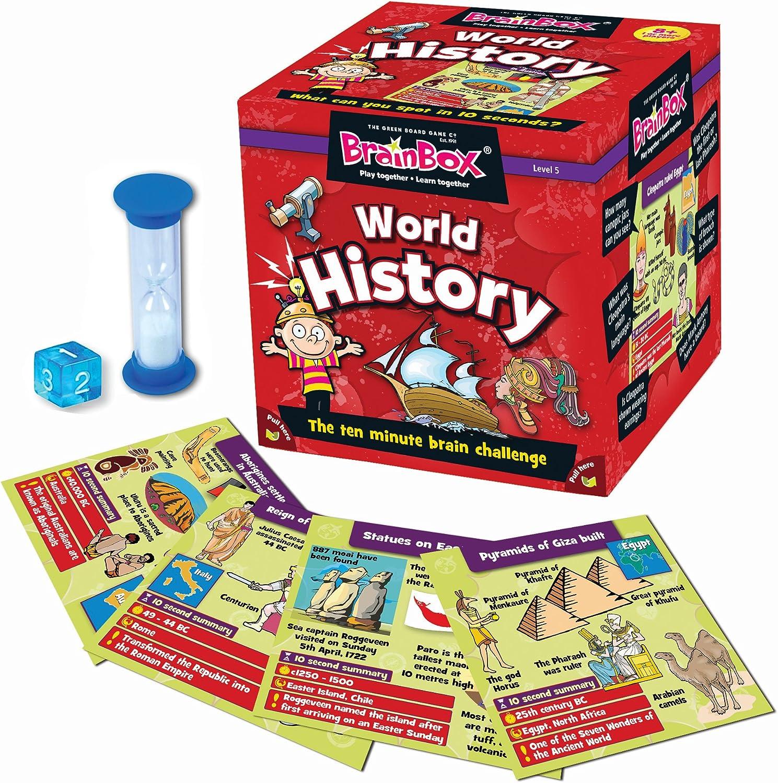 Green Board Games Brain Box - Juego de Preguntas sobre Historia Mundial (en inglés): Amazon.es: Juguetes y juegos