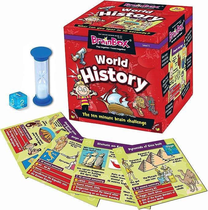Green Board Games Brain Box - Juego de Preguntas sobre Historia ...