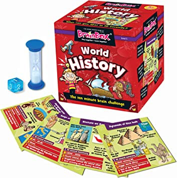The World BrainBox Game Children/'s Brain Box Memory Geography Places Game