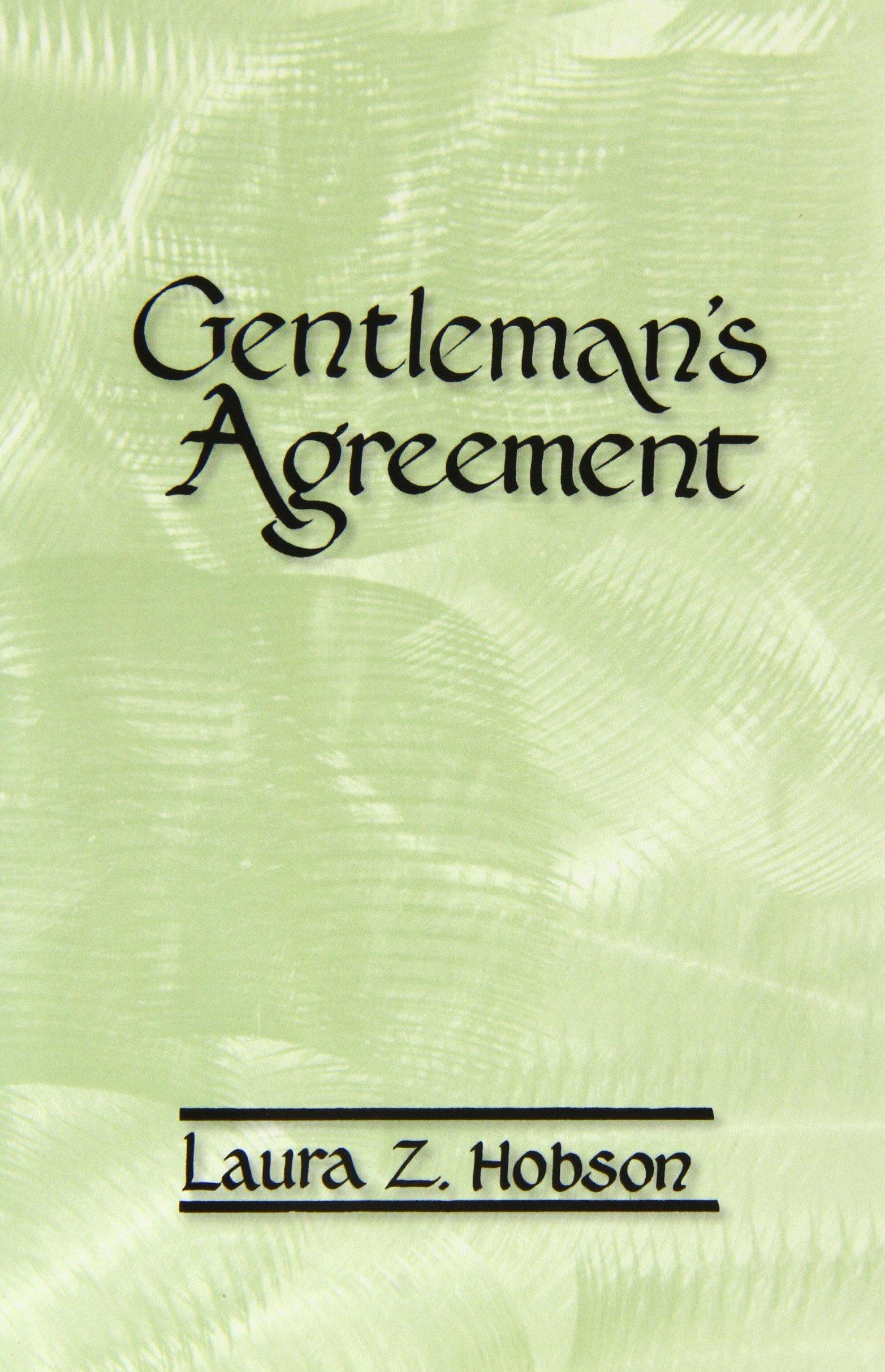 Gentlemans Agreement Laura Z Hobson 9780877973256 Amazon Books