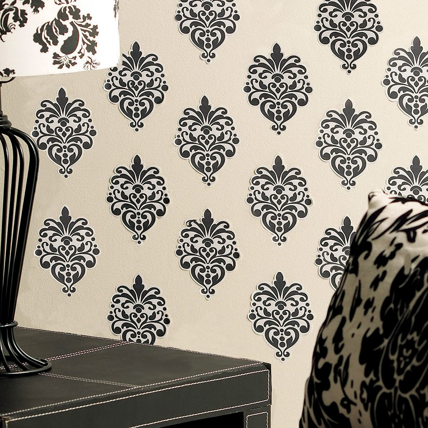 Amazon.com: Wallies Wall Decals, Beautiful Black Baroque Wall Stickers, Set  Of 12: Home U0026 Kitchen