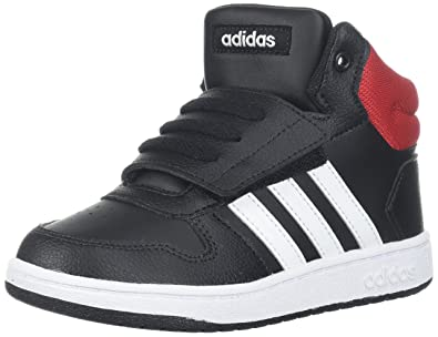 7f193354d adidas Kids' Hoops Mid 2.0, Core Black/White/Scarlet, 3 M