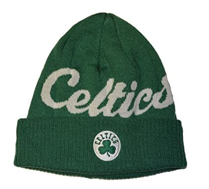 a8946c5cfc5 Image Unavailable. Image not available for. Color  Boston Celtics Green  Script Cuff Beanie Hat - Adidas NBA Cuffed Winter Knit Toque Cap