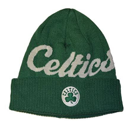 Amazon.com   Boston Celtics Green Script Cuff Beanie Hat - Adidas ... 2489c1ed65a