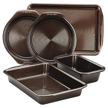 Circulon 46015 Nonstick Bakeware Set, 5 Piece, Chocolate
