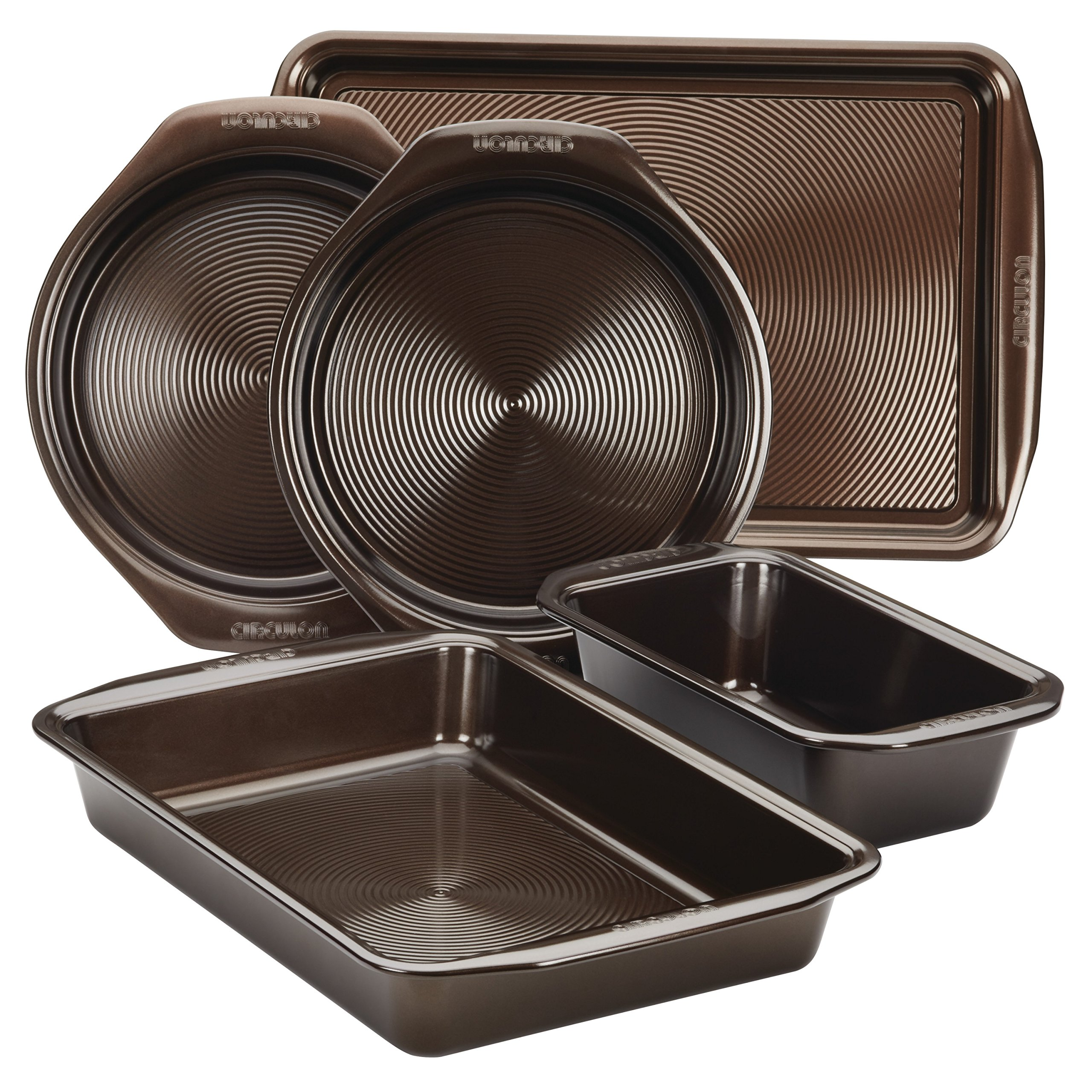 Circulon Nonstick Bakeware 5-Piece Bakeware Set, Chocolate Brown by Circulon (Image #1)