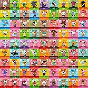 81 Pcs ACNH Cards for Animal Crossing New Horizons, Mini NFC Tag Game Cards Compatible with Switch, Switch Lite, Wii U, and New 3DS