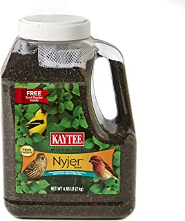 product image for Kaytee Nyjer Bird Seed Jug with Sock, 4.65-Pound