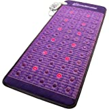 "Far Infrared Amethyst Mat + Natural Agate Gems - FIR Heat - Negative Ion - Red Light Photon Therapy - 10Hz PEMF Bio Magnetic Pulsation - FDA Registered Manufacturer - Purple (Midsize 59"" L x 24"" W)"