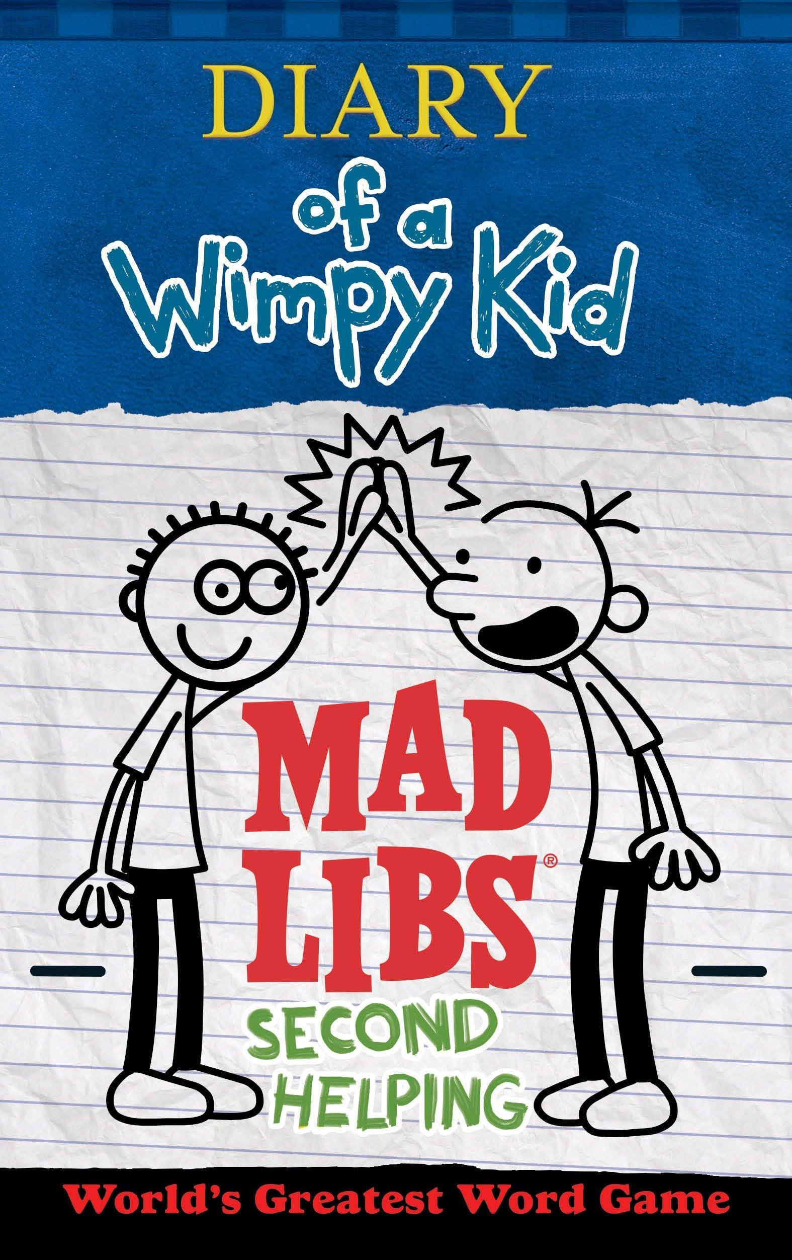 Diary Of A Wimpy Kid Mad Libs Second Helping Patrick Kinney