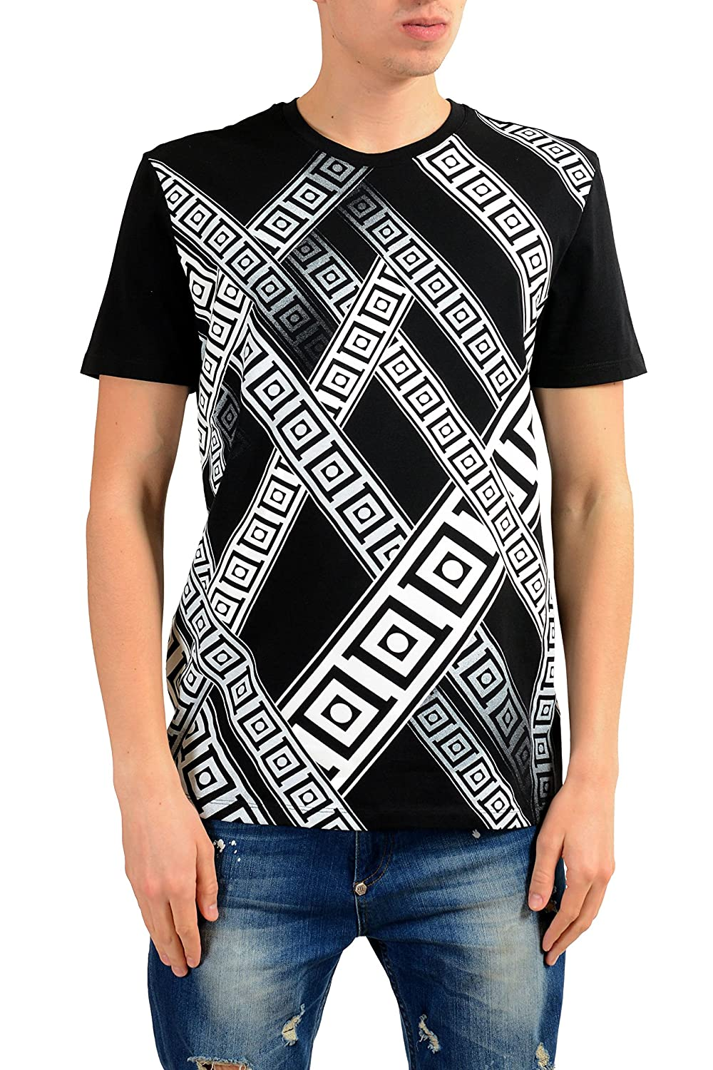 ddeba6dcf42 Top1  Versace Collection Men s Black Graphic Print T-Shirt US L IT 52