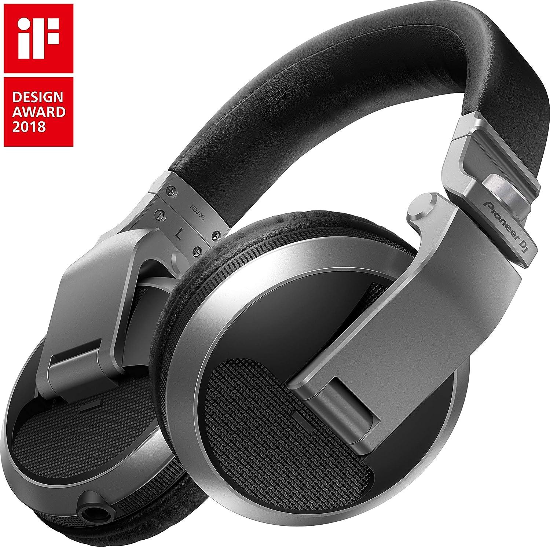 Pioneer DJ HDJ-X5-S Professional DJ Headphone, SILVER Pioneer Pro DJ