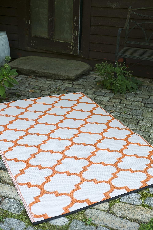 Fab Hab Hab Hab - Tangier - Orangenschale & rotrot - Teppich  Matte für den Innen- und Außenbereich (150 cm x 240 cm) B00ATFD0P8 Teppiche 9bb89e