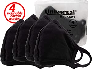 Universal 4521 Face Masks – 100% Cotton, Washable, Reusable Cloth Masks – Protection from Dust, Pollen, Pet Dander, Other Airborne Irritants