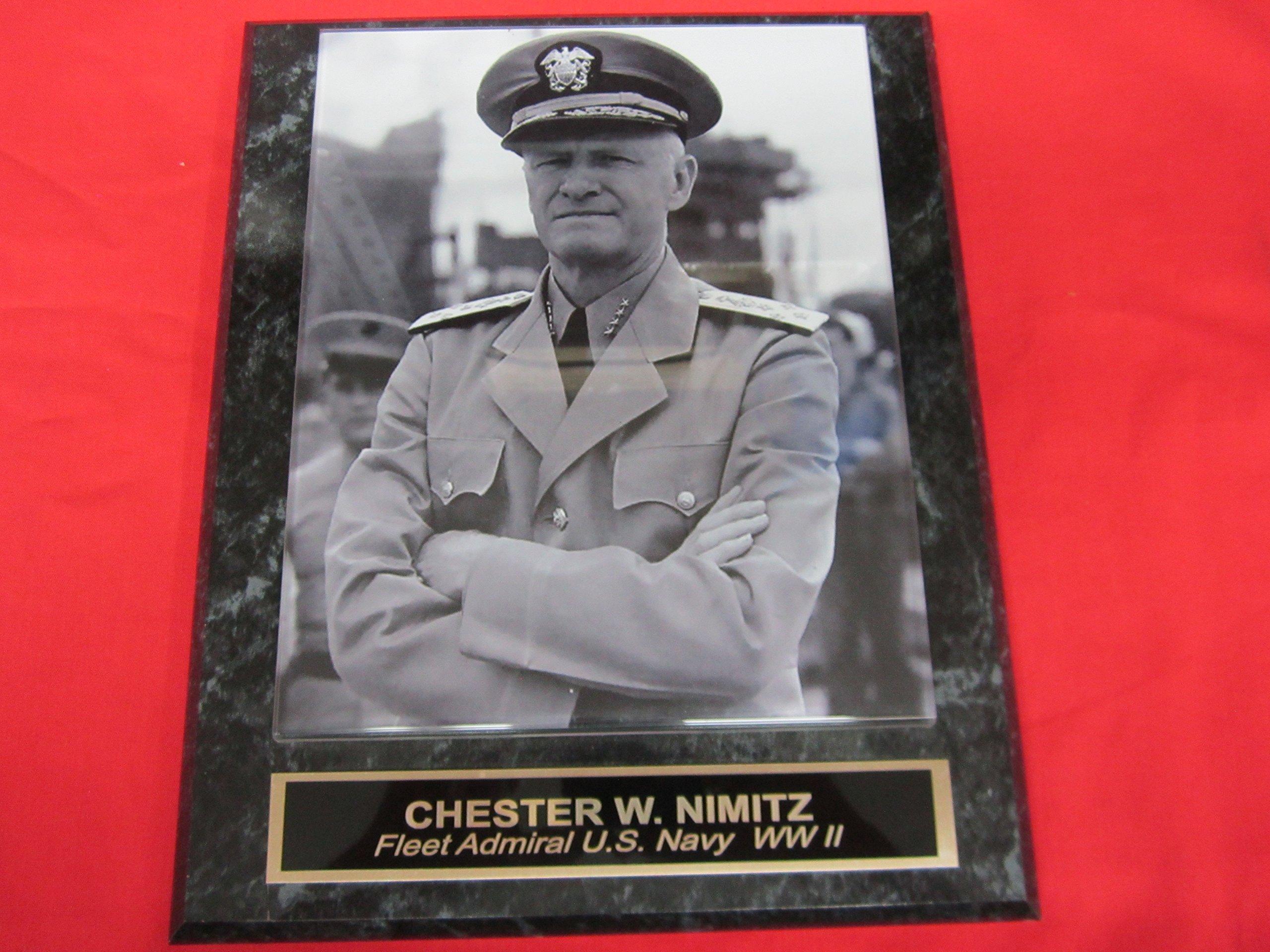 Admiral Chester W Nimitz Collector Plaque w/8x10 Photo!