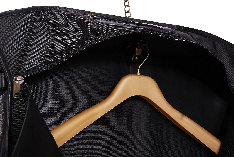 Reel Suit en Cuir Robe Transporteur Voyage Week-End Sac Noir CANICO Noir