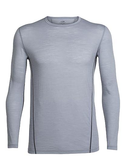 96b62c27c2e Amazon.com: Icebreaker Merino Men's Aero Long Sleeve Crew Neck Shirt, Merino  Wool: Clothing