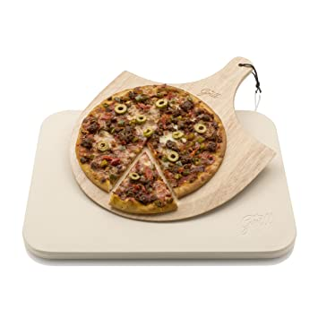 Hans Grill Pizzastein Pizza Ofenstein Mit Holz Pizza Peel Brett