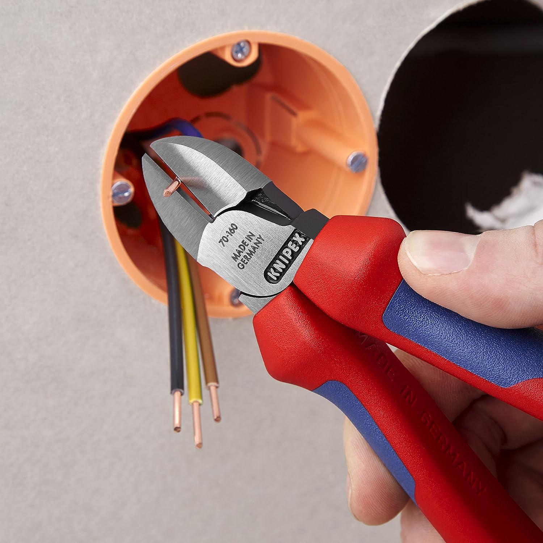 160 mm /& 78 03 125 mit Mehrkomponenten-Griffh/üllen Pr/äzisionszange Electronic Super Knips KNIPEX 70 02 160 Seitenschneider pr/äzises Schneiden bis /Ø 4,0 mm