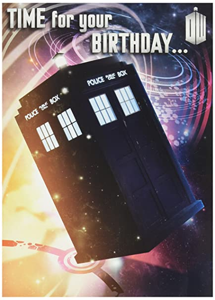 Amazon Official Doctor Who Birthday Card With Recorded Message