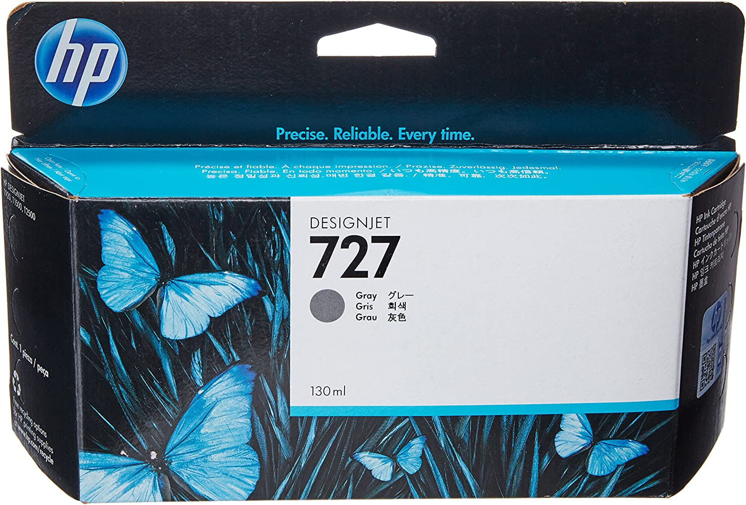 HP HEWB3P24A 727 Ink Cartridge, Gray Standard Yield,Grey