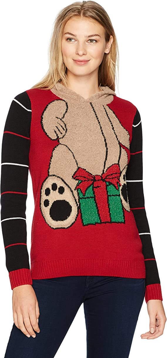 Ugly Christmas Sweater Company Women S Assorted Hoodie Xmas Sweaters Juniors At Amazon Women S Clothing Store