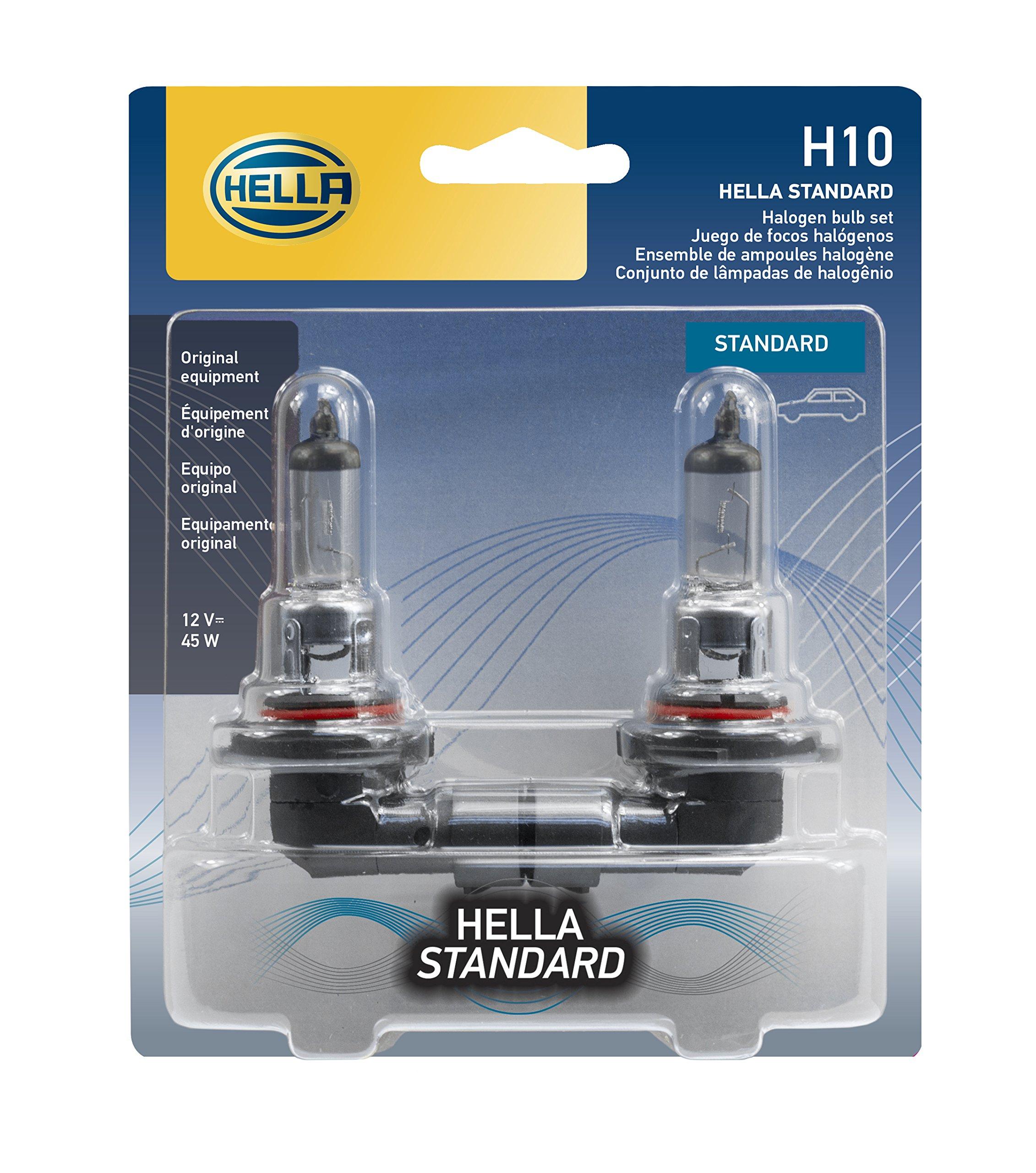 HELLA H10TB Standard-45W Halogen 9145 Bulbs, 12 V, 2 Pack