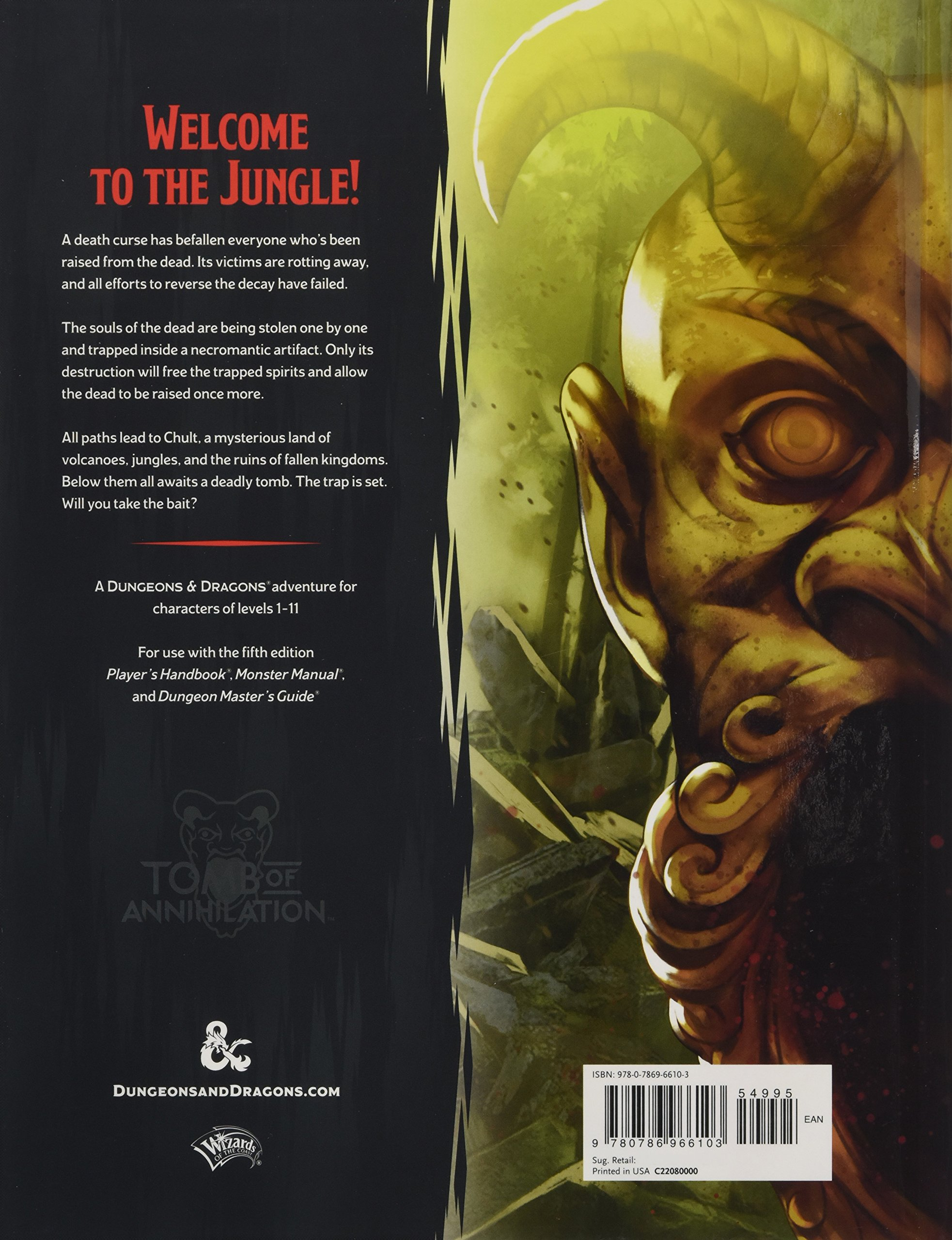Tomb of annihilation dungeons dragons wizards rpg team tomb of annihilation dungeons dragons wizards rpg team 9780786966103 amazon books fandeluxe Gallery