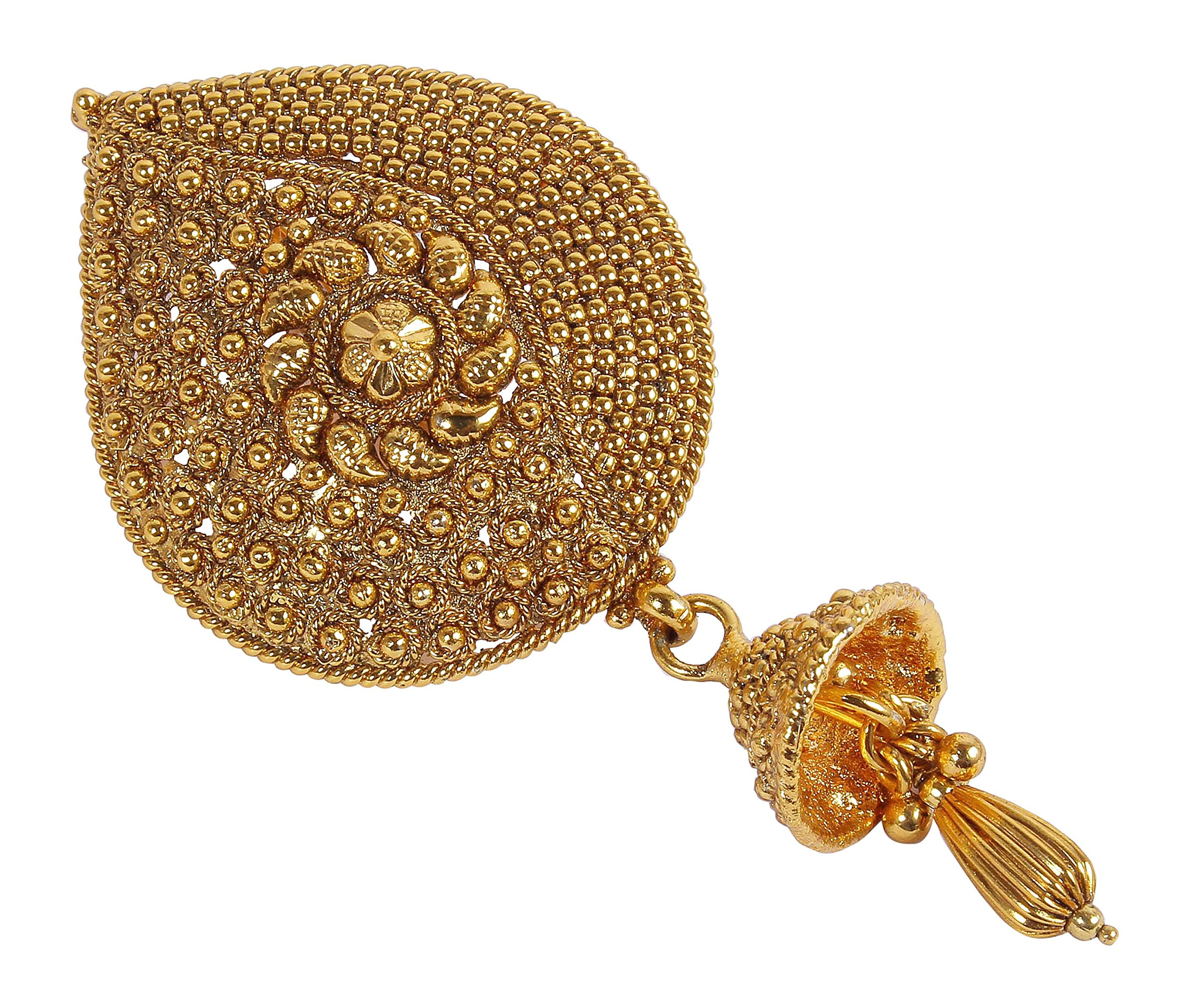 MUCH-MORE Awesome Gold Plated Hair Pin Hair Clip Indian Traditional Hair Jewelry for Women's (06)