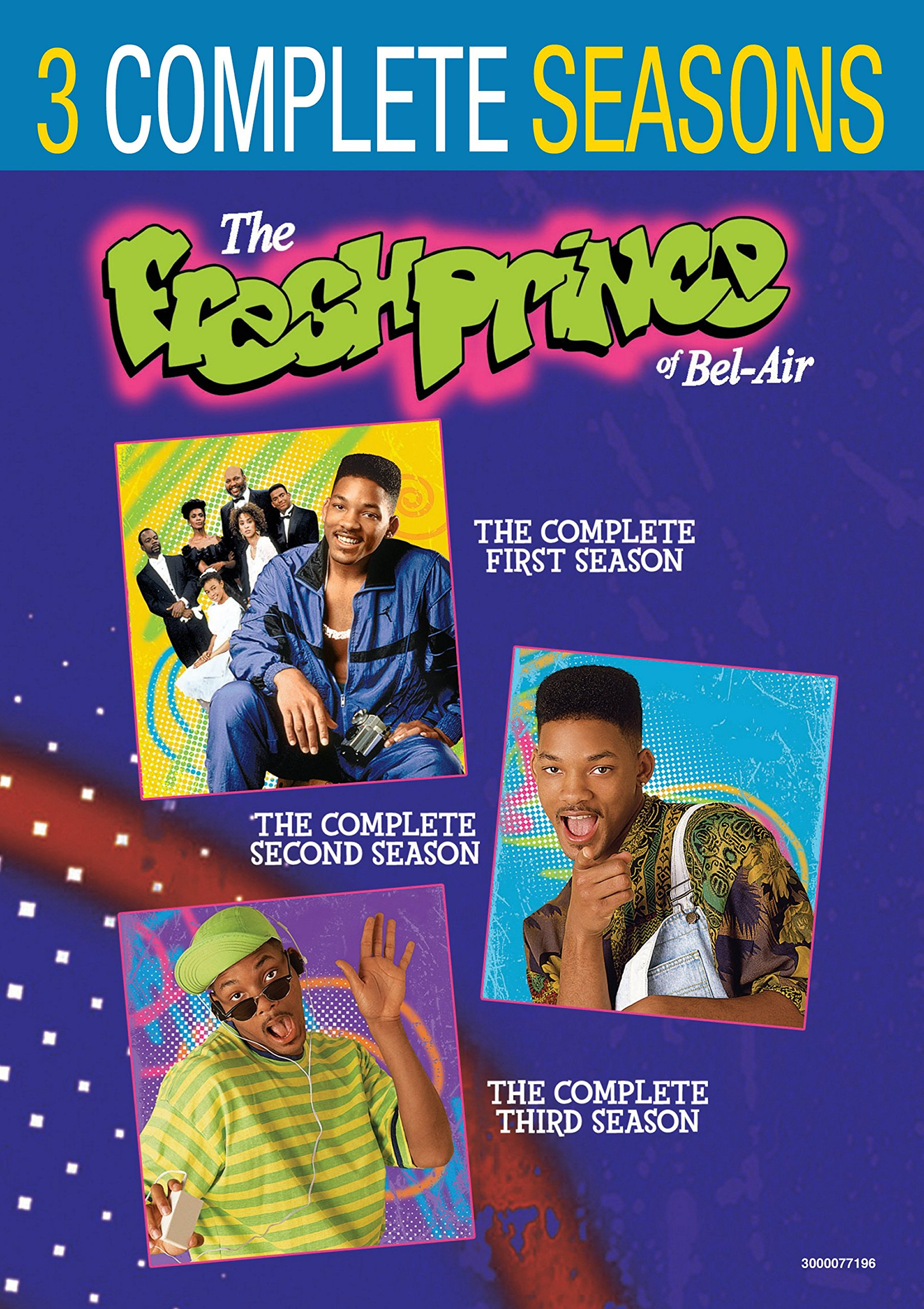 DVD : The Fresh Prince Of Bel-air: Seasons 1-3 (Shrink Wrapped, Back to Back Packaging, 3 Pack, Repackaged, 3PC)