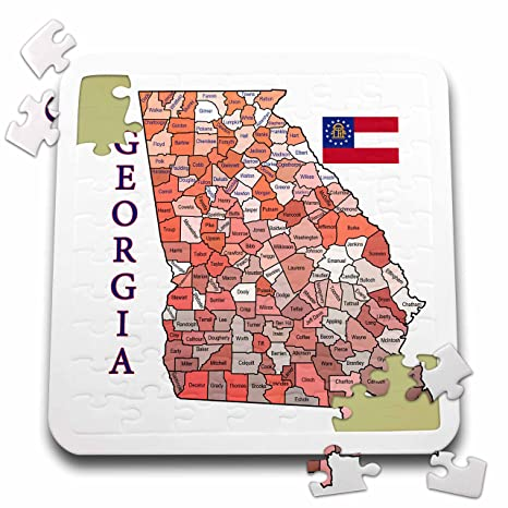 Map Of Georgia And Surrounding States.Amazon Com 777images Flags And Maps States Colorful Map And