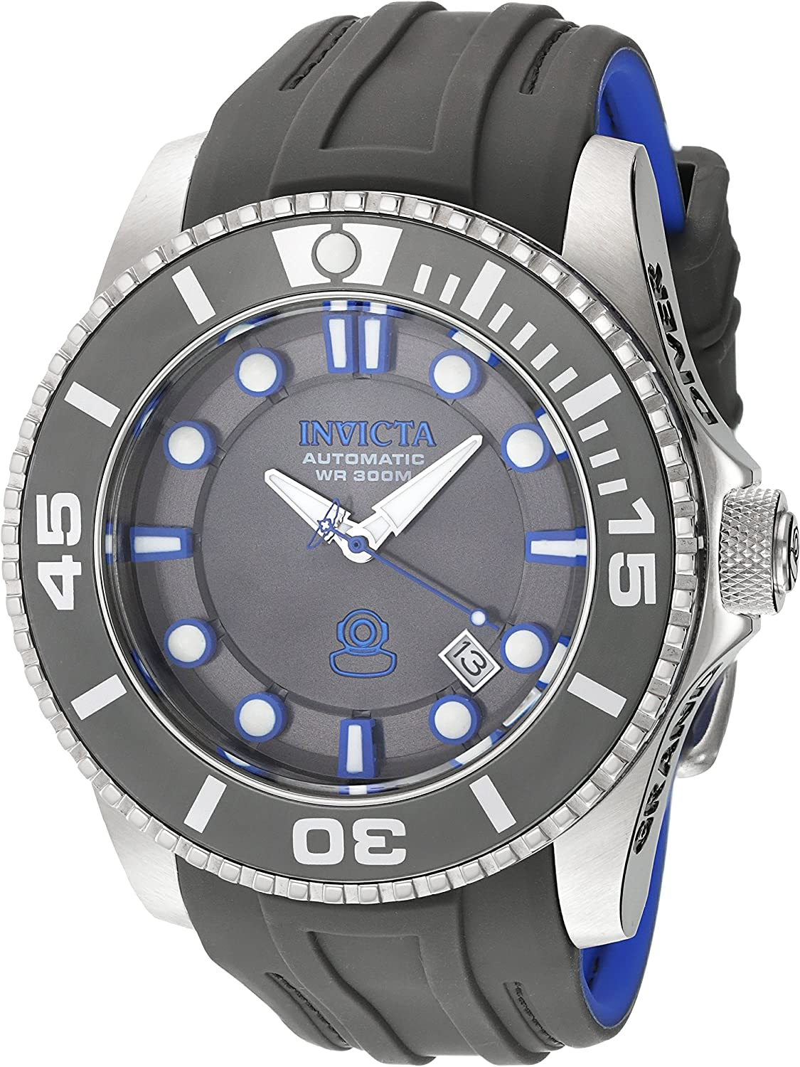 Invicta Men s Pro Diver Stainless Steel Automatic-self-Wind Diving Watch with Silicone Strap, Grey, 26 Model 20200