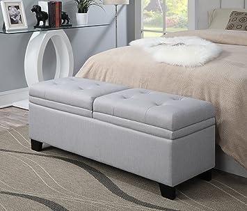 Amazon.com: Pulaski Curtis de almacenamiento tapizado cama ...