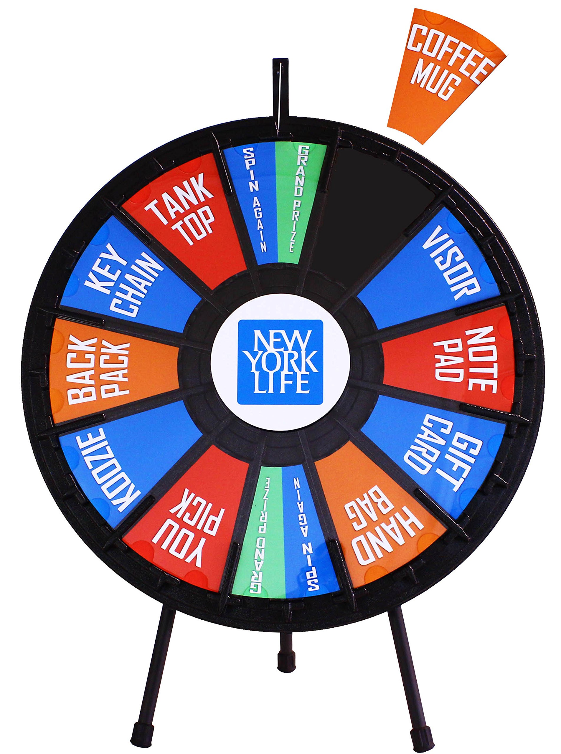 31'' Insert Your Own Graphics Prize Wheel with 12-24 slots