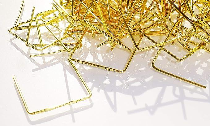 100 tamaño grande latón dorado diamante cierres Metal ...