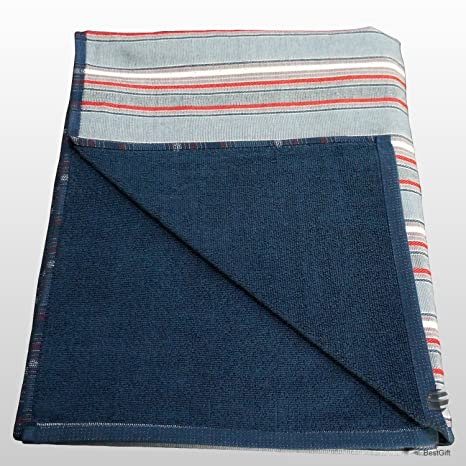 Grande 100% algodón de doble cara Fouta Pareo toalla de playa – Toalla de baño