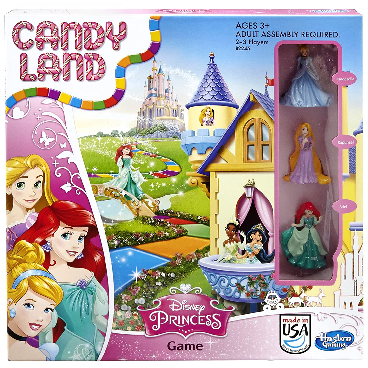 Hasbro Candy Land Disney Princess Edition Game Board Game