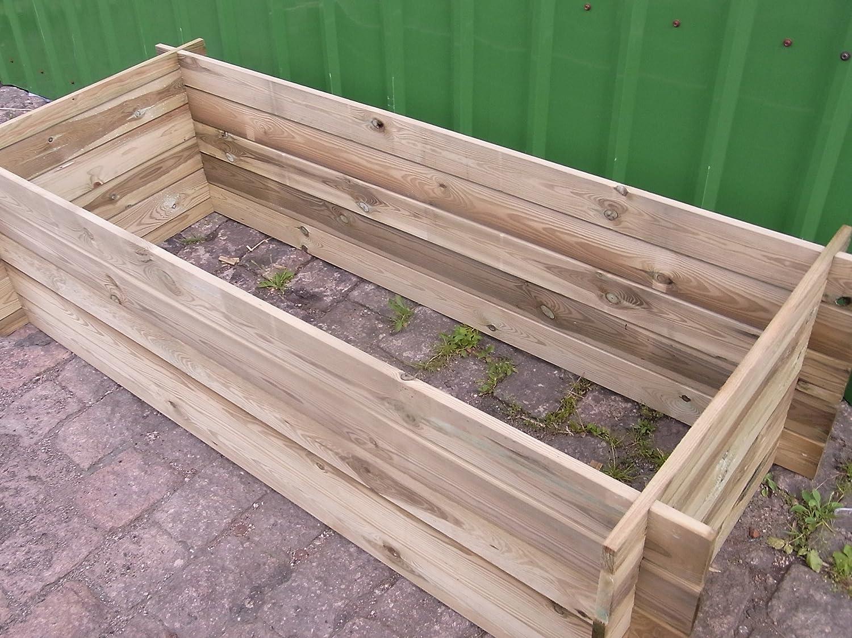 Stabiler Holzkomposter Hochbeet 170 X 65 X 52 Cm Massiv Bambus