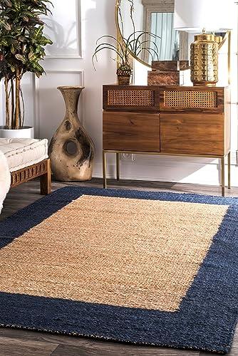nuLOOM Laird Wide Border Jute Rug - the best living room rug for the money
