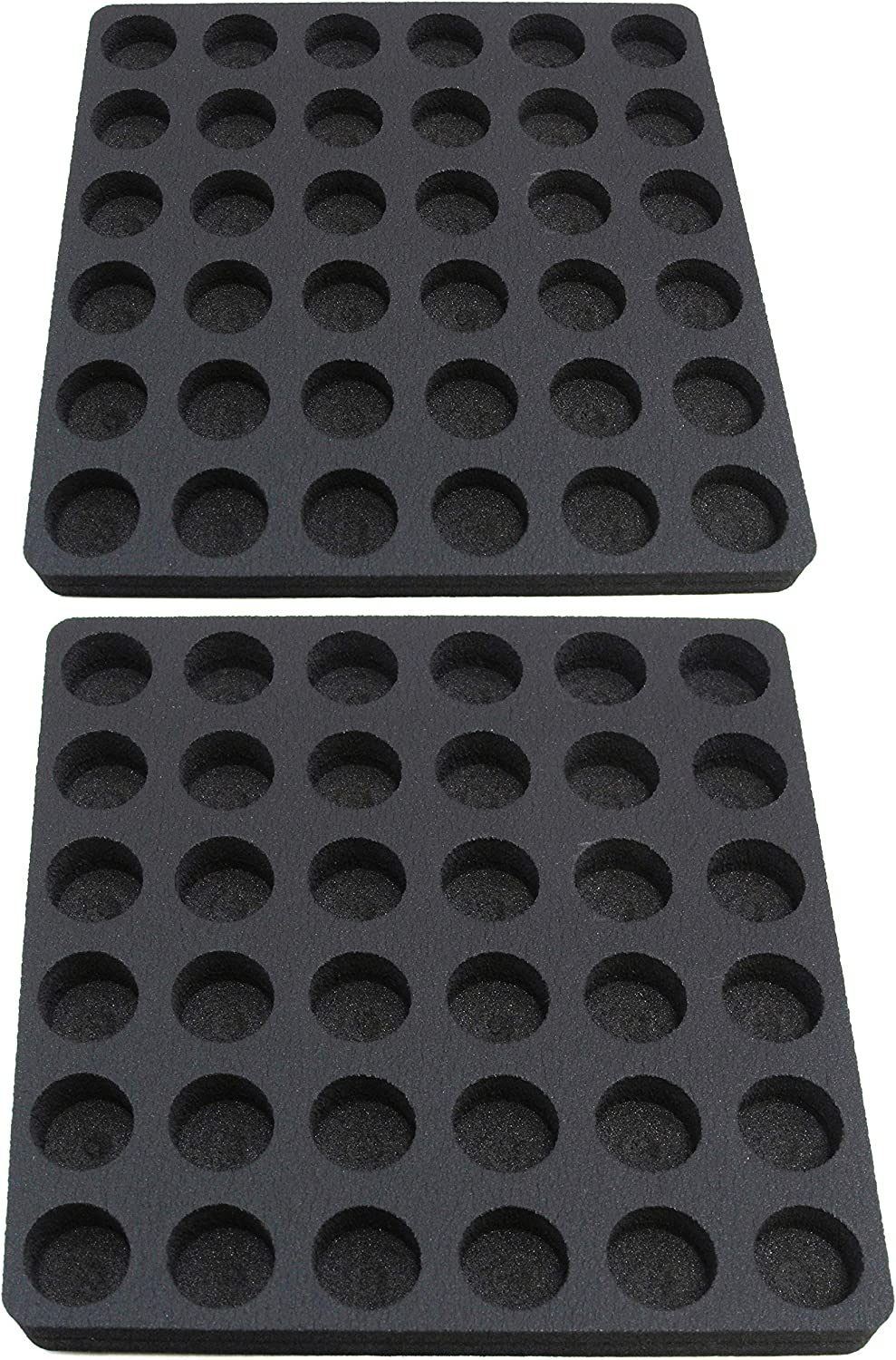 Polar Whale 2 Coffee Pod Storage Organizers Slim Tray Drawer Insert for Kitchen Home Office Waterproof Washable 12.5 X 12.5 Inches Holds 36 Each (72 Total) Compatible with Keurig K-Cup