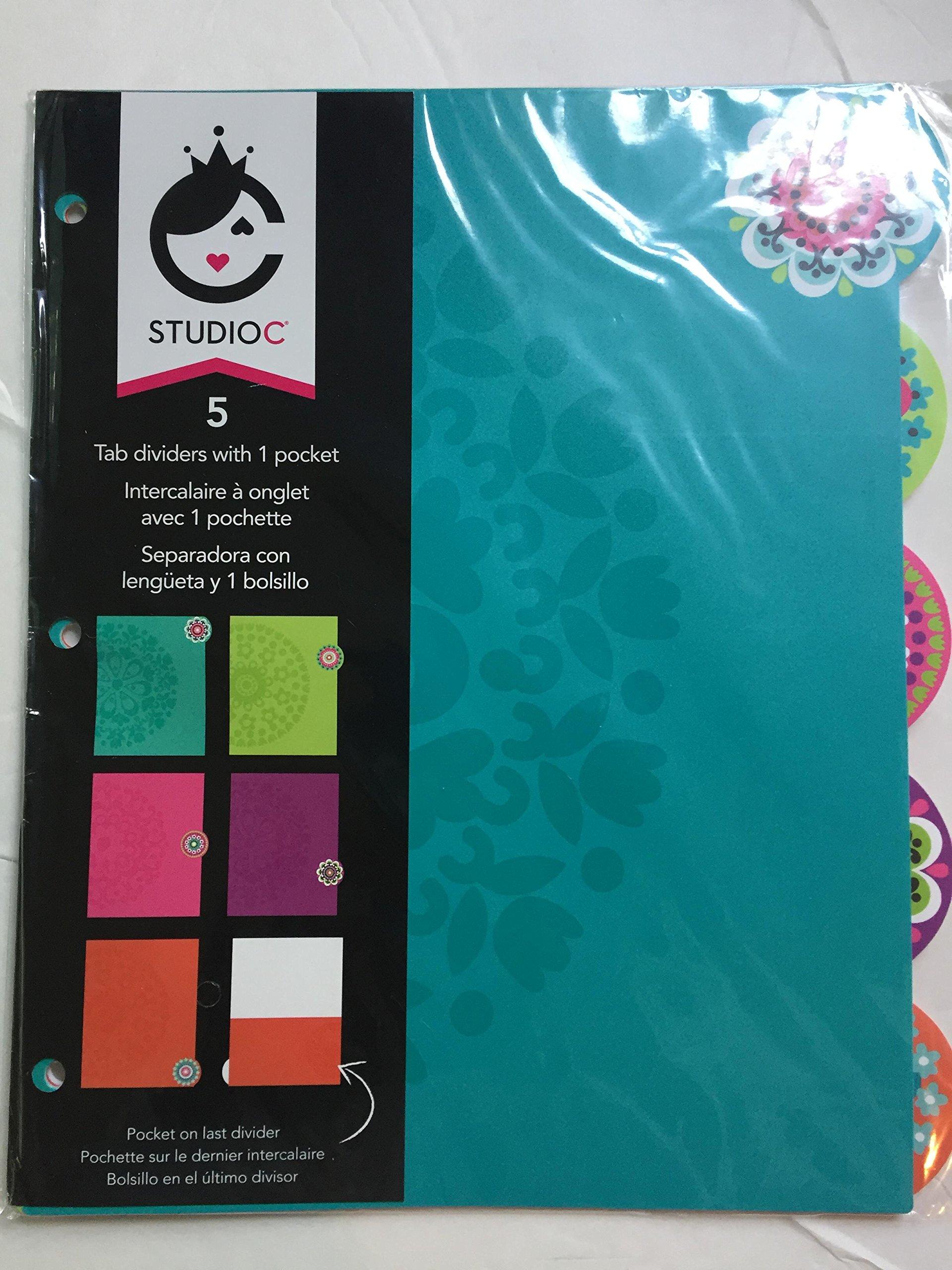 Carolina Pad Studio C Tab 5 Dividers 1 Pocket Kaleidoscope Collection