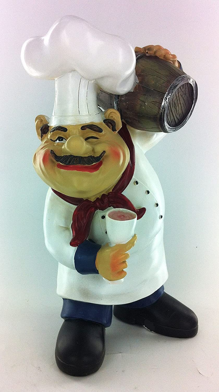 Amazon.com: Fat Chef Kitchen Beer Barrel Table Top Art Statue Bistro  Cooking 64124: Kitchen U0026 Dining